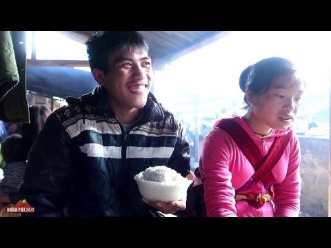 P2 - Bắt Gặp em gái Hmong Xinh Đẹp và Thánh ăn mèn mén tại chợ phiên vùng cao