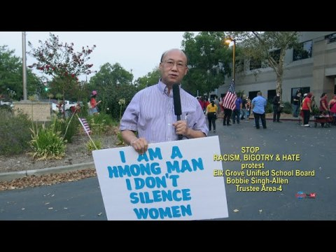 INTERVIEWS CHONG SOUA THAO PROTEST RACISM, BIGOTRY & HATE HMONG, 8/28/2020