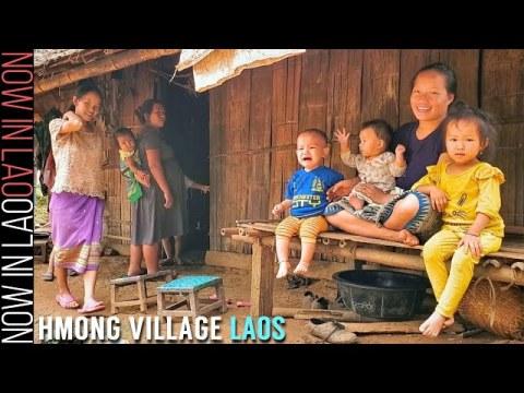 Hmong Village Laos - The Hmong of Ban Long Lao Luang Prabang Pt1 | Now in Lao