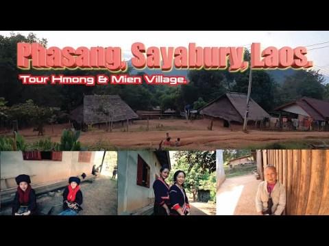 IU MIEN TOUR Phasang, Sayabury, Laos. Hmong & Mien Village. [ ENG SUB]