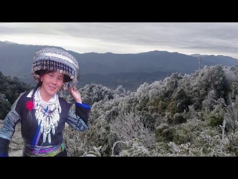 nkauj hmoob leeg mus saib Snow nyob La Pán Tẩn - hmong mu cang chai