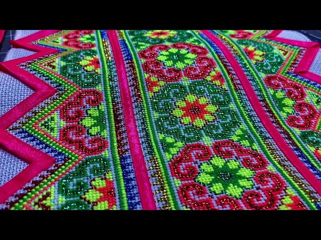 How to Sew Trims on Hmong Paj Ntaub