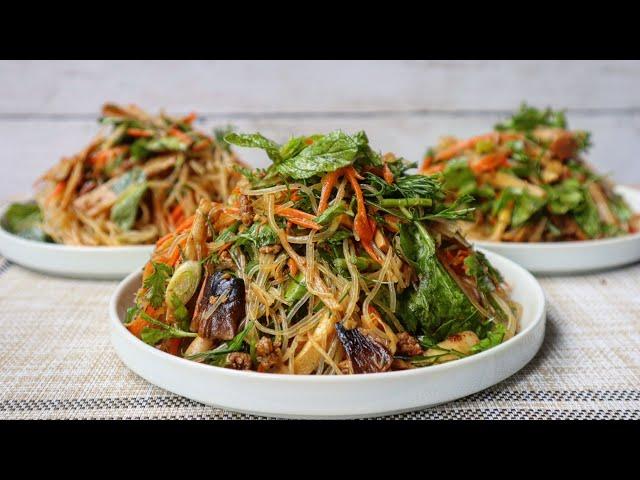 PLEEV CHOJ: Hmong Style Bean Thread Noodle Dish