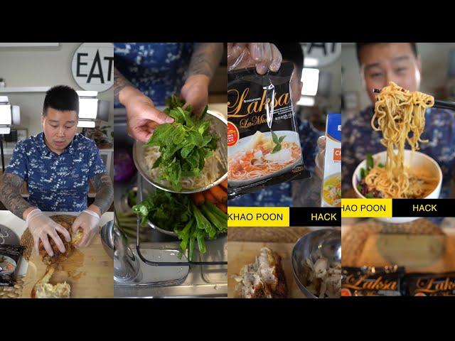 Laksa Khao Poon Ramen Curry Chicken Noodle Hack Lao Thai Hmong Singaporean Malaysian Indonesian Food