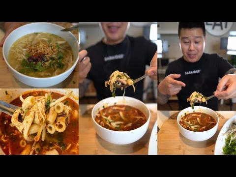 How to make Macaroni Fusion Spicy Noodle Soup Lao Filipino Hmong Food Recipes Mukbang Eating Asmr