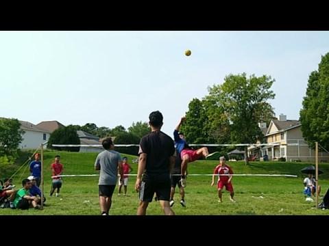 Karenni vs Hmong at St. Paul, Minnesota Takraw Tournament