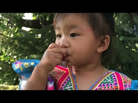 Hmong Wisdom : Lilly Ntximhlub Walking around the House ( Hmong / Hmoob )