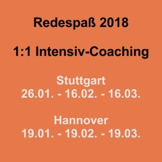 Redespass-Coaching Hannover Stuttgart 2018