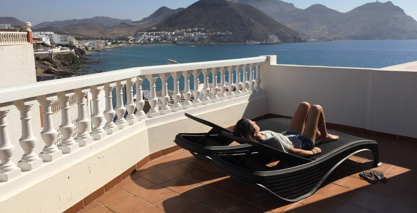 CasaLisa, terraza con vistas al mar