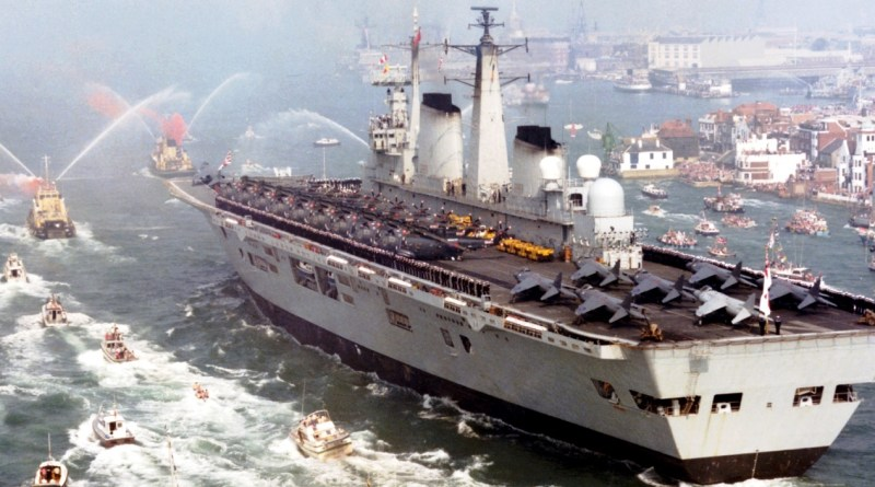 HMS Invincible welcomed home