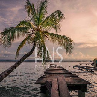 Panama Bocas del Toro Carenero Sunset