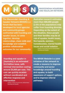 Extract from Maroondah Hoarding and Squalor Network Infographic: Launch of the MHSN website, May 2018