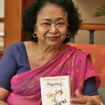 Picture of Shakuntala Devi — Human Computer!