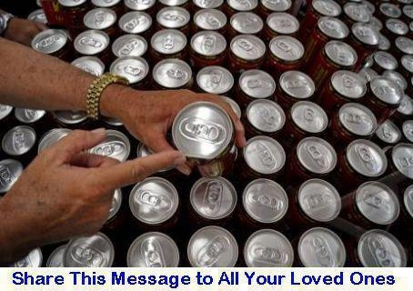 Picture about Cool Drink Tins contain Rat Urine that can Spread Virus