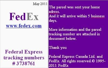 Picture about FedEx Emails - Delivery Address Needs to be Confirmed