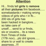 Picture about Girls' Facebook accounts Hacked