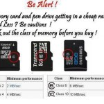 Picture: Memory Cards at Low Cost can have Less Speed