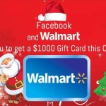 Picture about Facebook and Walmart $1000 Christmas Gift Card Invitation Scam