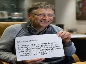 Picture about Bill Gates $5,000 Giveaway for Facebook share Hoax