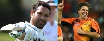 Picture about Sachin Tendulkar vs Brad Hogg - Amazing Story