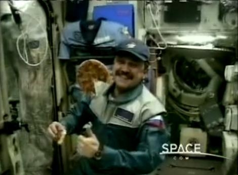 Picture: Pizza Hut once Delivered Pizza to Outer Space, Spending $1 Million