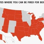 Map of American States where you can be Fired for Being Gay