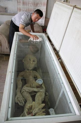 Picture about Alien Killed and Captured by a Chinese Farmer