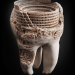 Picture about Amazing Colosseum Carved into Tooth