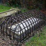 Picture about Cages over Graves of Victorian-era to Trap Zombies
