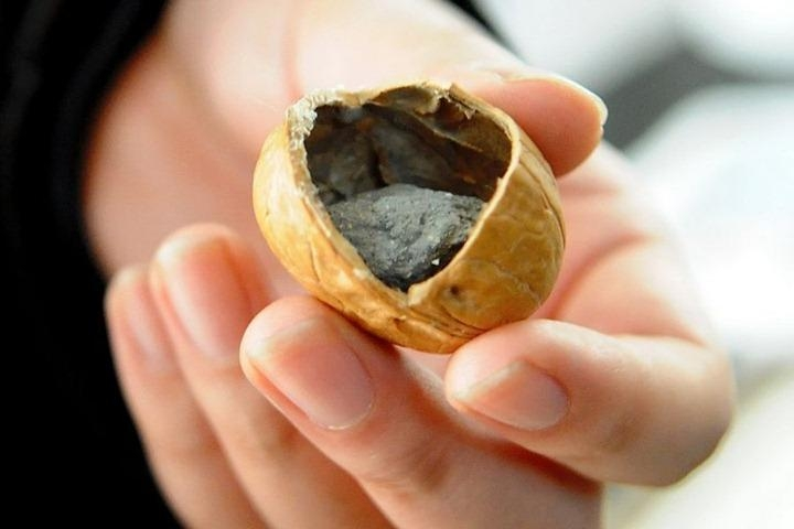 Picture of Fake Concrete Filled Walnuts Sold in China