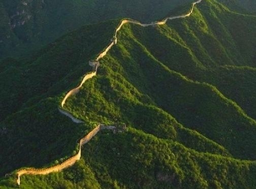 Picture about Great Wall of China Visible from Moon or Outer Space
