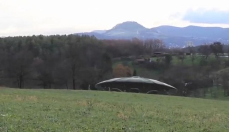 Picture about 2014 UFO with Aliens Landing in Germany Caught on Video