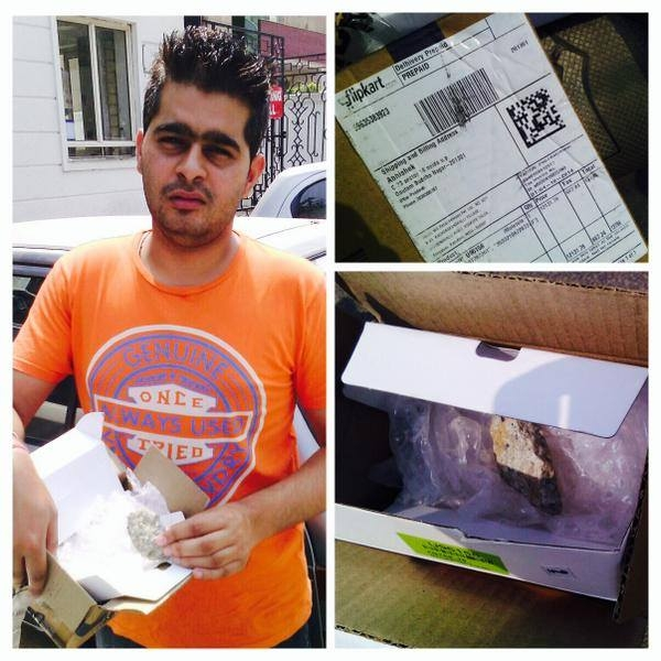 Picture about Flipkart Customer Got Stones Instead of Product Purchased
