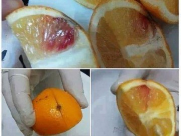 Picture about Algeria Recovered Large Quantity of HIV-Blood Injected Oranges