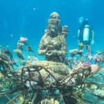 Picture about Ancient Hindu Temple in the Middle of Deep Sea, Bali