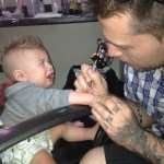 Picture of Baby Being Tattooed