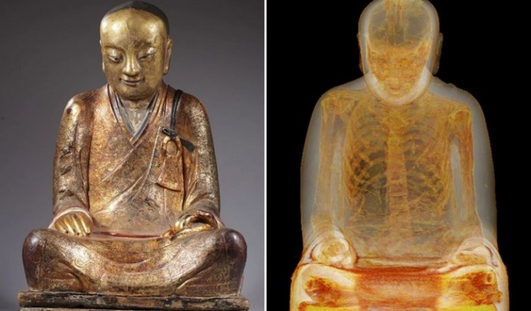 Scan Reveals This Buddha Statue Has Ancient Mummy Inside