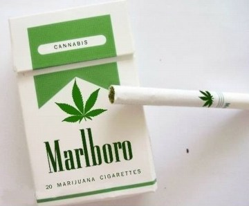 Picture Suggesting New Marlboro Cigarettes to Contain Marijuana