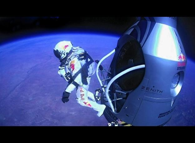 Picture about Skydiver Successfully Jumps from the Edge of Space, Video