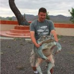 Picture Suggesting Monster 57 LB Toad Caught Eating Neighborhood Pets in New Mexico