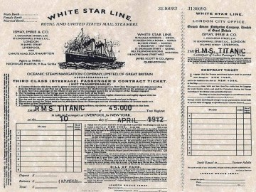 Picture about Titanic Ship Ticket
