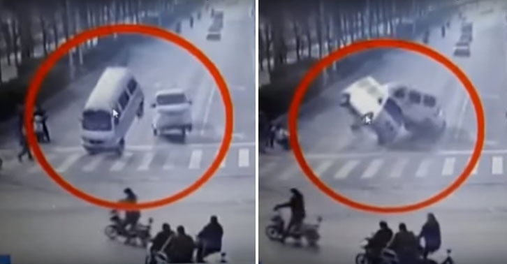 Mystery in China: Accident with Cars Levitating – Facts