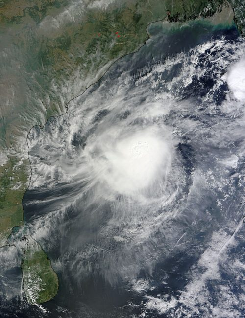 Picture Suggesting NASA Warned Chennai Will Suffer Very High Rainfall with a Hurricane