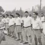 Picture of RSS Volunteers Saluting British Queen