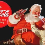 Picture Suggesting Santa Claus' Red Suit Created by Coca-Cola Company for Advertising