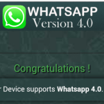 Picture of WhatsApp Version 4.0 Download Invite Message