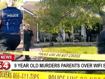 Picture Suggesting 9 Year Old Murders Parents After They Turn Off WiFi for Punishment