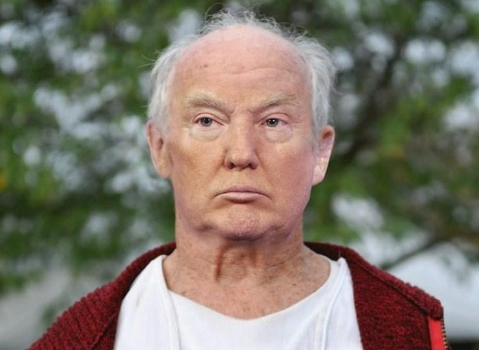 Donald Trump with No Wig or Makeup Photograph