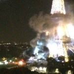 Picture Suggesting Eiffel Tower Set to Flames in Terrorist Attack