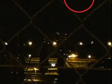 Picture Suggesting 'Noisy' UFO Spotted Flying Over Geneva Stadium